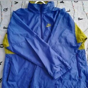 Vintage 90s Nike indigo/green windbreaker mens XL
